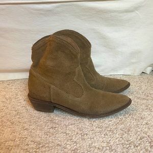Suede cowboy booties